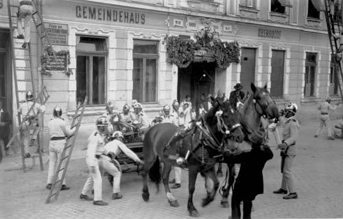 Schauübung der FFO zum 40-jährigen Jubiläum 1929